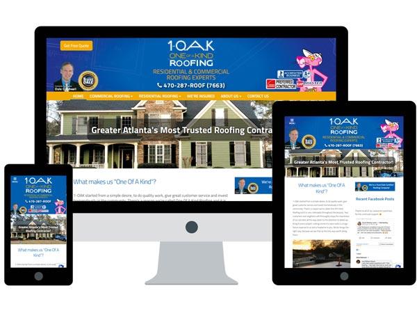 1 OAK Roofing Website