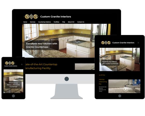Custom Granite Interiors Website