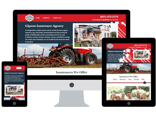 Gipson Insurance Agency Website