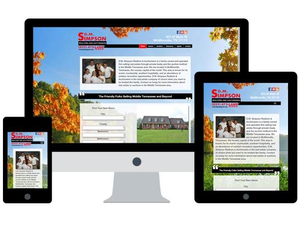 DM Simpson Realtors & Auctioneers Website