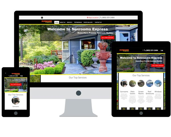 Sunrooms Express Knoxville Website