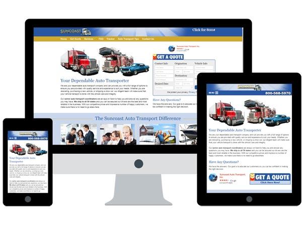 Suncoast Auto Transport Website